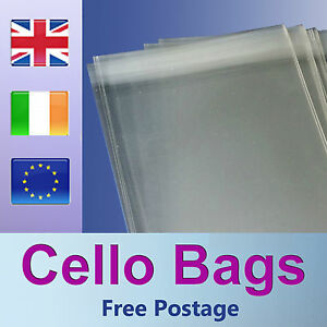 250-7-034-x-5-034-Cello-Bags-for-Greeting-Cards-Clear-Cellophane-Peel-amp-Seal-Bags