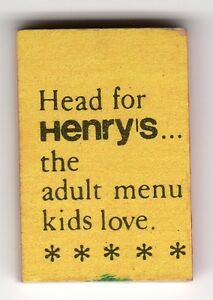 TINY-TALES-Variation-HENRYS-Resturant-Yellow-MINI-Joke-BOOK-1965-VENDING-Gumball