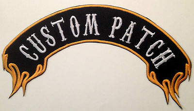 Custom Embroidered Top Flame Biker Rocker Patches