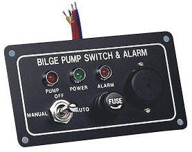 Bilge-Pump-Marine-LED-Switch-Panel-With-Fuse-amp-Alarm12-Volt-Switch-Panel-New