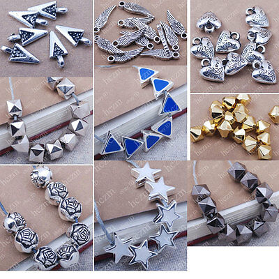 Acrylic spacer beads charms heart wing star triangle jewelry making findings DIY