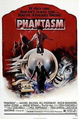 Phantasm Michael Baldwin vintage horror movie poster