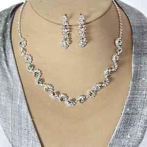 Juego-de-joyas-collar-PENDIENTES-Estras-damenset-Decoracion-joyeria-nupcial
