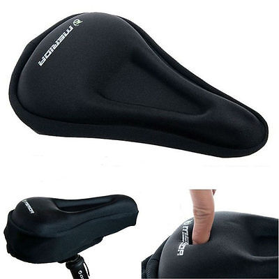 Cycling Bike Bicycle Silicone Cover Saddle Seat Silica Gel Cushion Soft Mat Pad