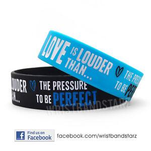 LOVE-IS-LOUDER-THAN-PRESSURE-PERFECT-DEMI-LOVATO-WRISTBAND-BRACELET-BLUE