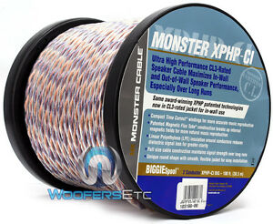 monster cable 100 foot roll of speaker wire home theater subwoofer or in wall ebay. Black Bedroom Furniture Sets. Home Design Ideas
