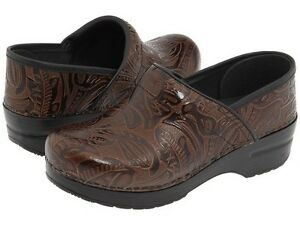 Dansko-Professional-Tooled-Brown-Sizes-37-38-40-41-Brand-New-In-Box