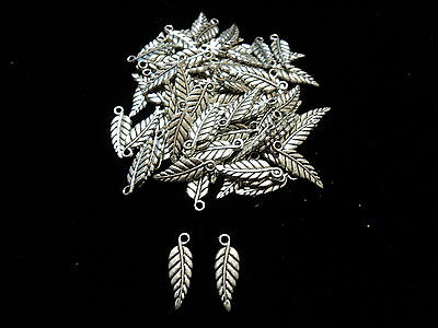 Tibetian Silver Lead Free Pewter Charms/Leaf