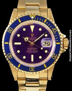 ROLEX-VINTAGE-SUBMARINER-1680-18K-18K-GOLD-PURPLE-DIAL