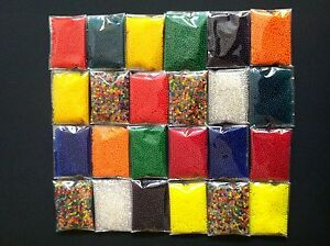 24 packets colorful water toy crystal soil jelly marble beads 7g each-13000pcs++