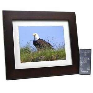Pandigital-8-LCD-Burgundy-Picture-Frame-with-Remote-Control-Wifi-Ready