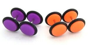 16G Purple Blue Yellow Red Marble Fake Cheater Ear Tapers Earrings Look 0G 8mm