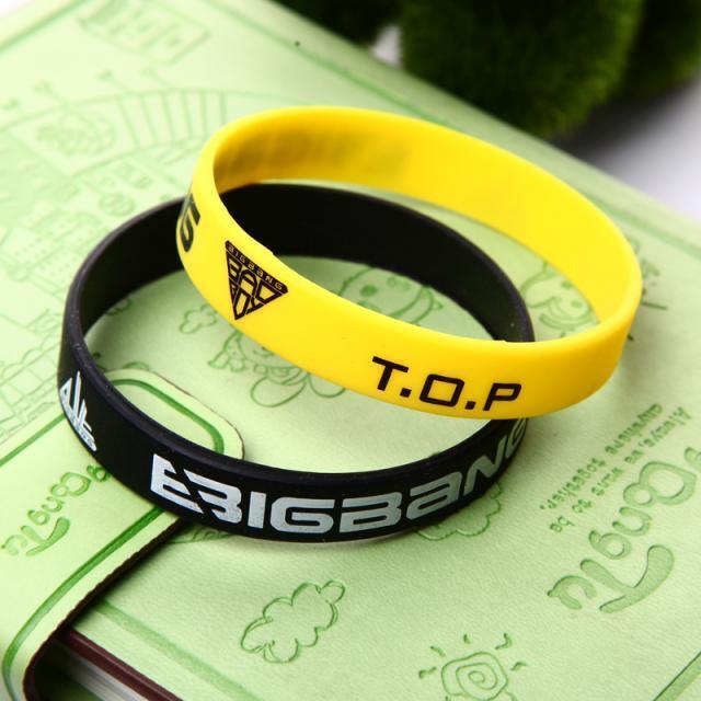 2X TOP Bracelet Bigbang Silicone Bracelets K-POP T.O.P Supporter Jelly Band