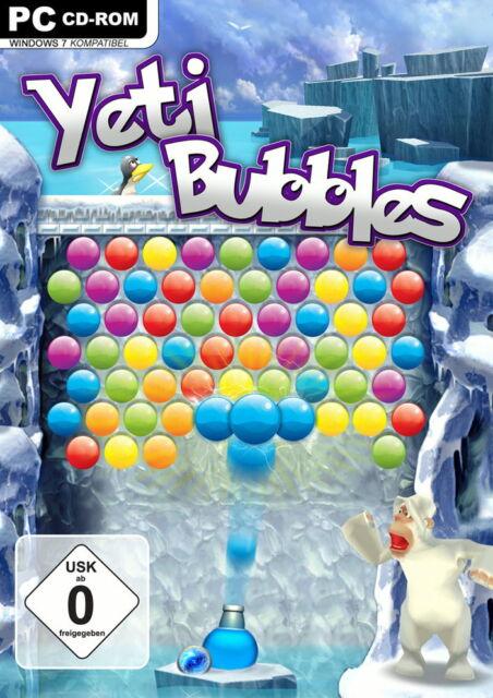 Yeti Bubbles (PC, 2010, DVD-Box) neuwertig, Match 3 gewinnt