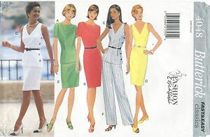Butterick-4048-Misses-Easy-Dress-Top-Skirt-Pants-Sewing-Pattern