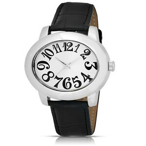 FMD-xhiliration-Collection-Polished-Metal-Oversized-Numeral-Ladies-039-Watch
