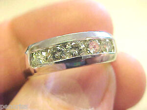 1.00 ctw Brilliant Clean Clear White Diamond Mens Ring size 8.25 Make Offer