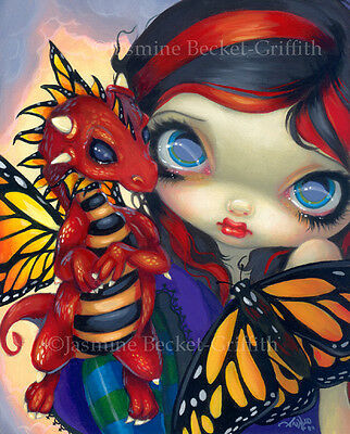 Jasmine Becket-Griffith art print SIGNED Darling Dragonling III baby red fairy