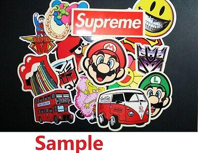 Pack of 10 Mixed Skateboard Stickers 10 Random Skateboard Decorative Stickers