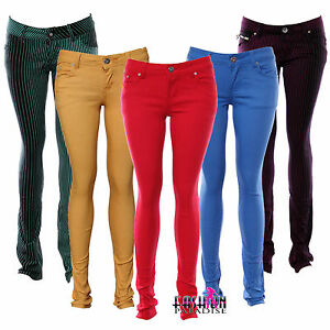 NEW-LADIES-WOMENS-COLOURED-SKINNY-FIT-DENIM-JEANS-STRETCHY-SIZE-6-8-10-TP-18