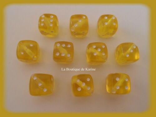 LOT 10 PERLES ACRYLIQUES FORME Dé COULEURS AU CHOIX 11 x 11 mm CREATION BIJOUX