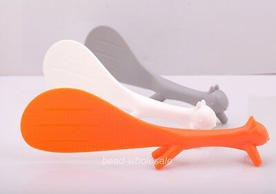 Nice Orange/Grey/White Squirrel Shape Rice Scoop Spoon Paddle Scoop Ladle