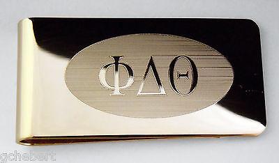 Phi Delta Theta,ΦΔΘ, Money Clip Greek Letter in Brass By McCartney