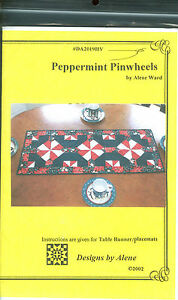 Peppermint-Pinwheels-Table-Runner-amp-Placemats-Pattern-Christmas-Quilting