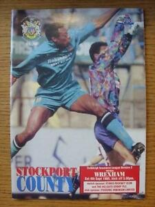 04091993 Stockport County v Wrexham   Item In very good condition unless prev - Birmingham, United Kingdom - 04091993 Stockport County v Wrexham   Item In very good condition unless prev - Birmingham, United Kingdom