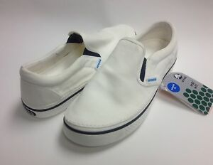 5cee61003f860 CLOSEOUT Crocs Hover Slip-On Canvas Shoes White   White Size Men 4 ...