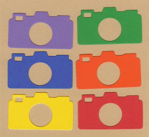 Your choice of colors on Photo Cameras Die Cuts AccuCut