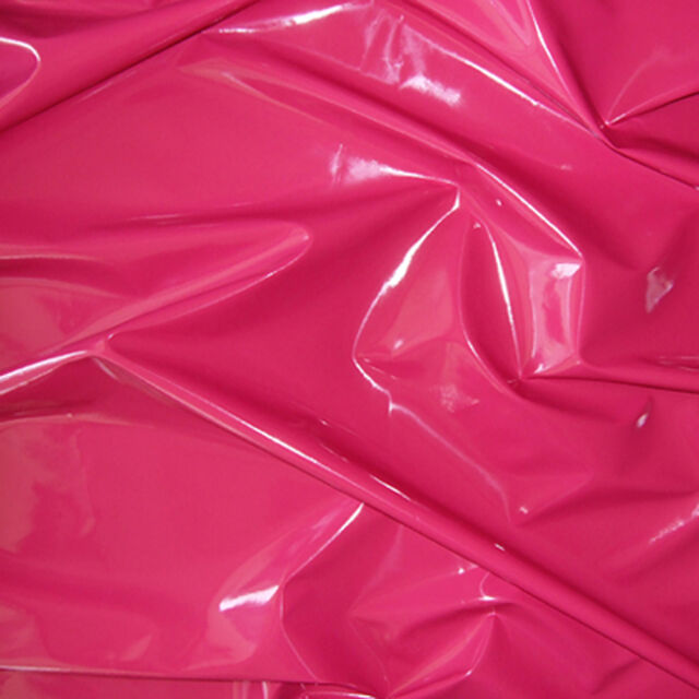 SHINY HIGH GLOSS PVC STRETCH VINYL PLEATHER GOTHIC SEXY FETISH CATSUIT FABRIC