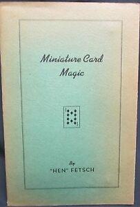 Miniature Card Magic by Fletsch, Hen