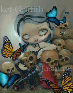 Butterflies-amp-Bones-Jasmine-Becket-Griffith-CANVAS-PRINT-gothic-art-skull-fairy