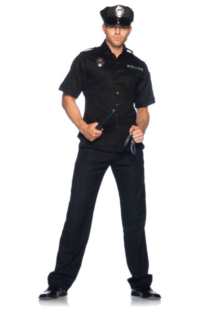 Mens Police Officer Cop Uniform Adult Halloween Party Costume NEW