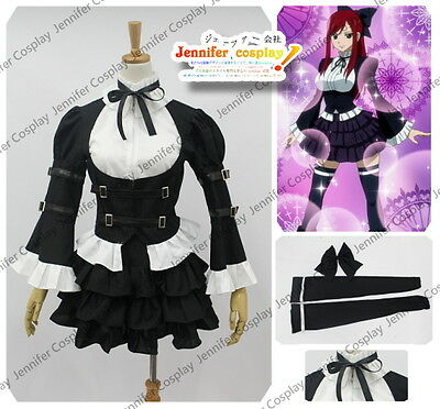 Fairy Tail Erza Scarlet Cosplay Lolita Dress Costume Any Size