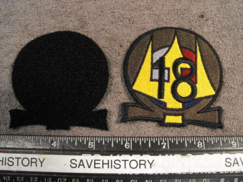 US Navy Squadron EIGHTEEN Flight Suit Patch, mint OD type