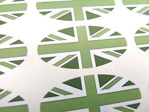 Verde-Bandiera-Union-Jack-Ovale-Sigillare-Etichette-Adesivi-per-Fascia-Buste