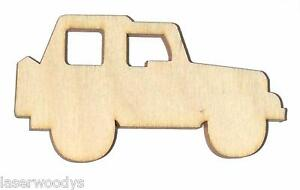 Jeep-Unfinished-Flat-Wood-Shapes-Craft-Cut-Outs-J417-Variety-Sizes