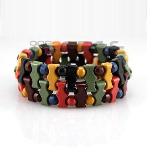 Power-Health-Tourmaline-Double-Special-Beads-Stretch-Bracelet-Wristband-w-Box