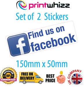 2x-Find-us-on-Social-Network-Stickers-Shop-Business-Taxi-Media-Adverstising