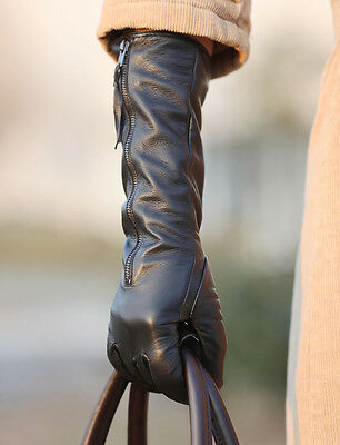 WARMEN Luxury Gift Women Genuine Nappa soft Leather lined long elbow Gloves NWT