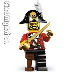 Lego-8833-Minifigure-Series-8-Pirate-Captain-Brand-New-Not-Sealed-NEW