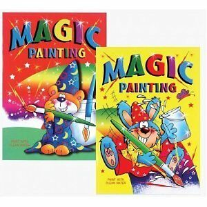 SET OF 4 x A5 MIXED MAGIC PAINTING NO MESS PAINT BOOKS FOR KIDS CHILDREN COLOUR