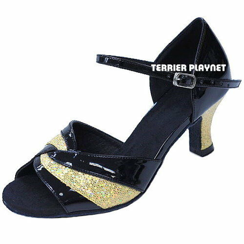 TPS Black /& Gold Latin Ballroom Salsa Custom-made Dance Shoes D840