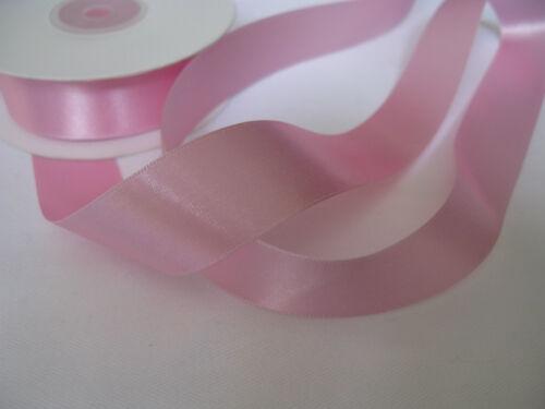 50m bobine complet double face ruban de satin 3mm 10mm 16mm 25mm beaucoup de couleurs