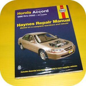 Repair-Manual-Book-Honda-Accord-98-02-DX-EX-LX-Owners