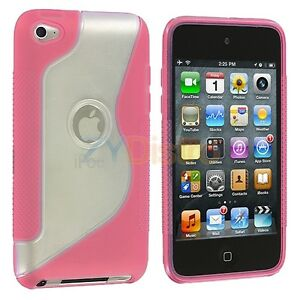Clear-Pink-TPU-S-Line-Hard-Skin-Case-Cover-for-Apple-iPod-Touch-4th-Gen-4G-4