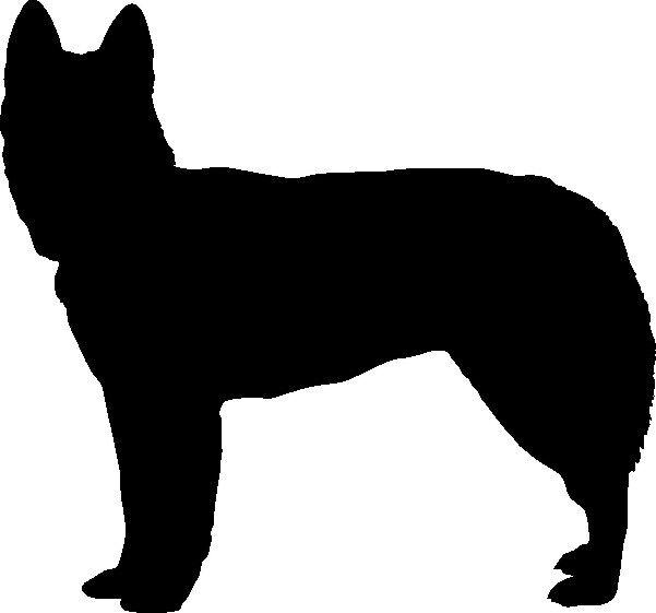 CATTLE DOG KELPIE SILHOUETTE CAR DECAL STICKER