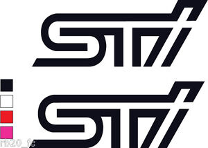 2x Sti Logo Decal Sticker Vinyl For Subaru Impreza Wrx Sti